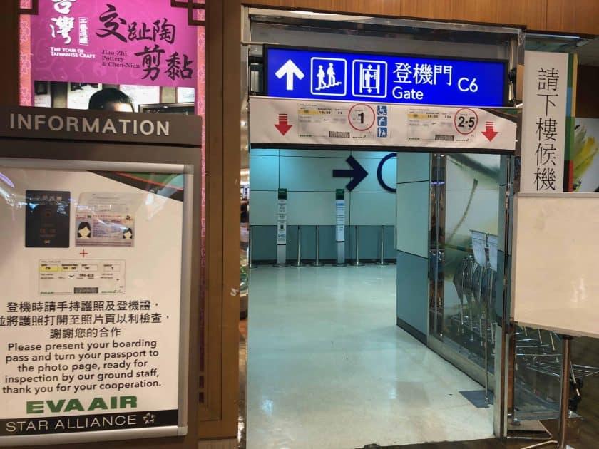 EVA Air Bewertung Gate