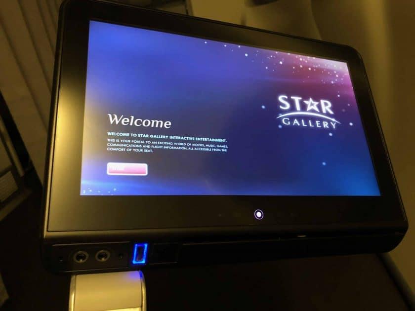 EVA Air Bewertung IFE Bildschirm