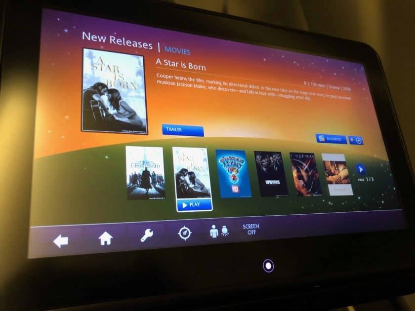 EVA Air Bewertung IFE Filme