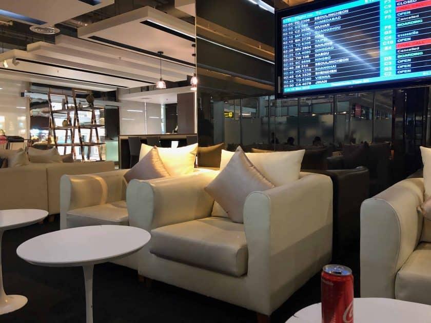 EVA Air Bewertung Lounge Bangkok
