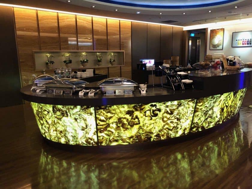 EVA Air Bewertung Lounge Buffet