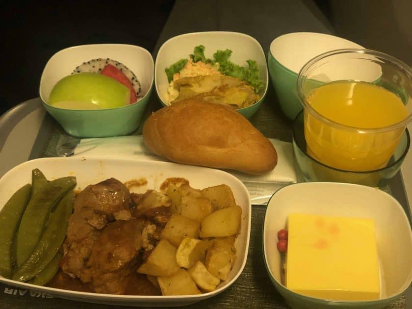EVA Air Bewertung Meal 2