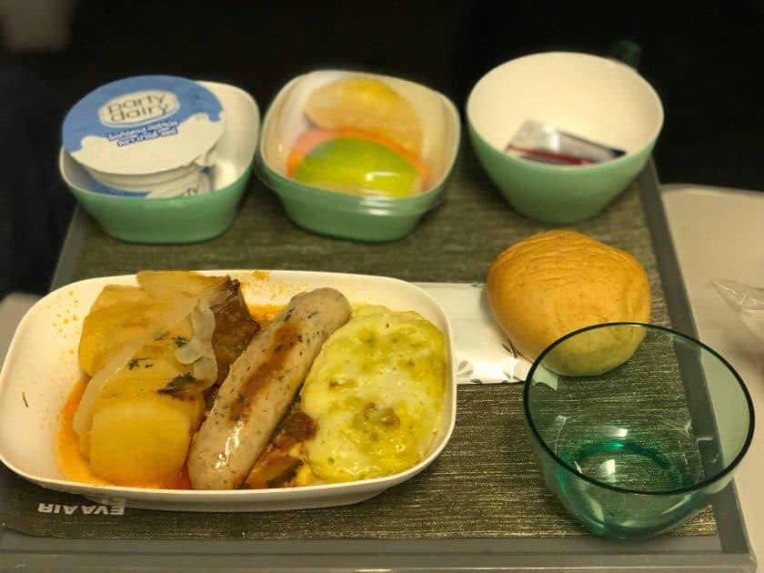 EVA Air Bewertung Meal 3