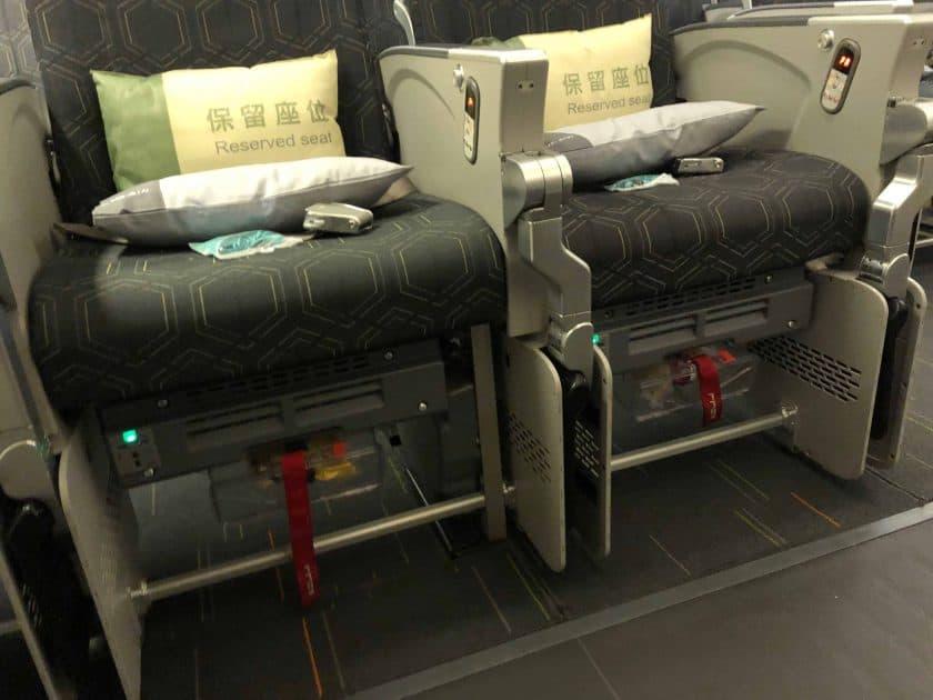 EVA Air Bewertung Norausgangssitz