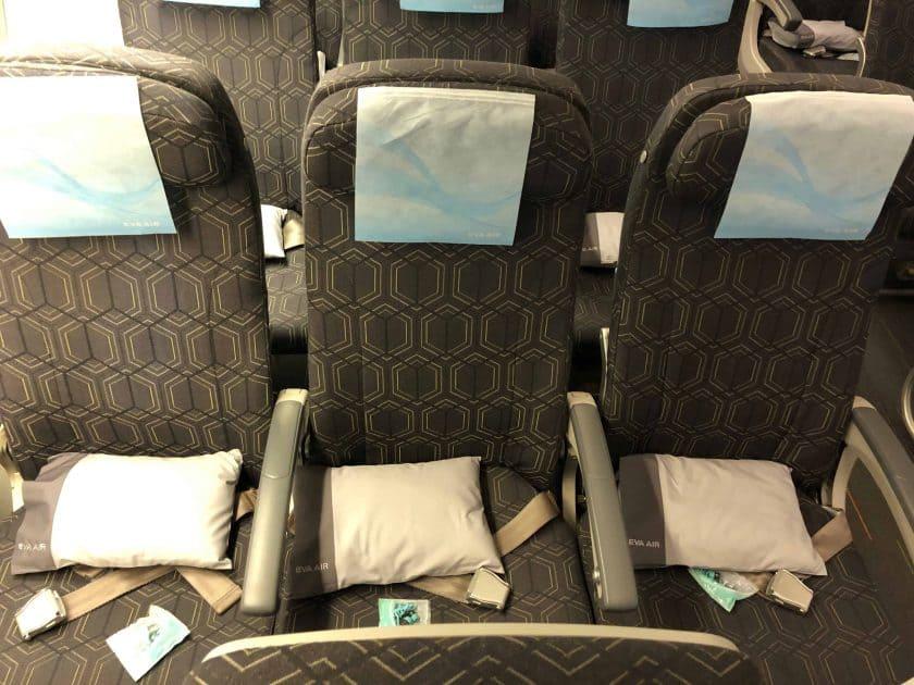 EVA Air Bewertung Sitz von oben