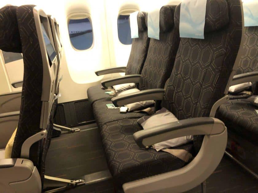 EVA Air Bewertung Sitze Dreier