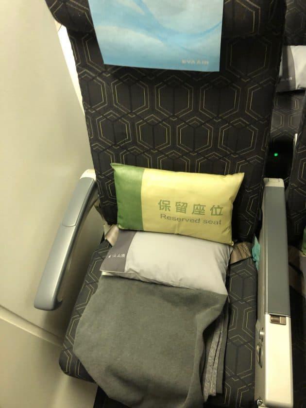 EVA Air Bewertung Sitzflaeche