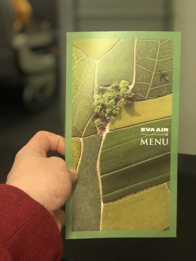 EVA Air Bewertung Speisekarte MEAL 2 Titelseite
