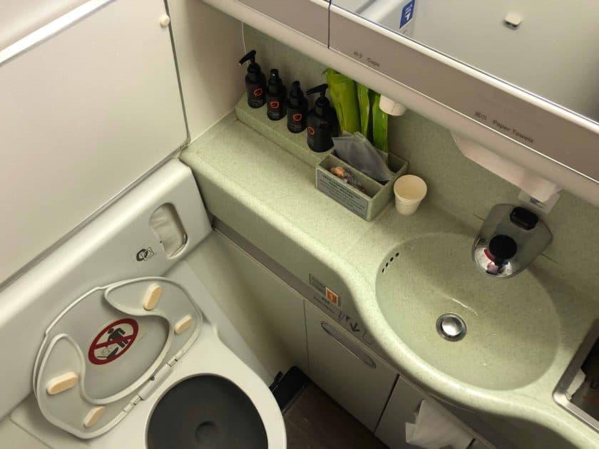 EVA Air Bewertung Waschraum