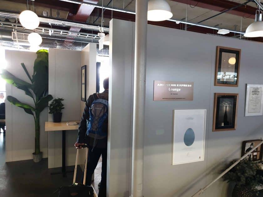 Eingang Amex Lounge ARN 1