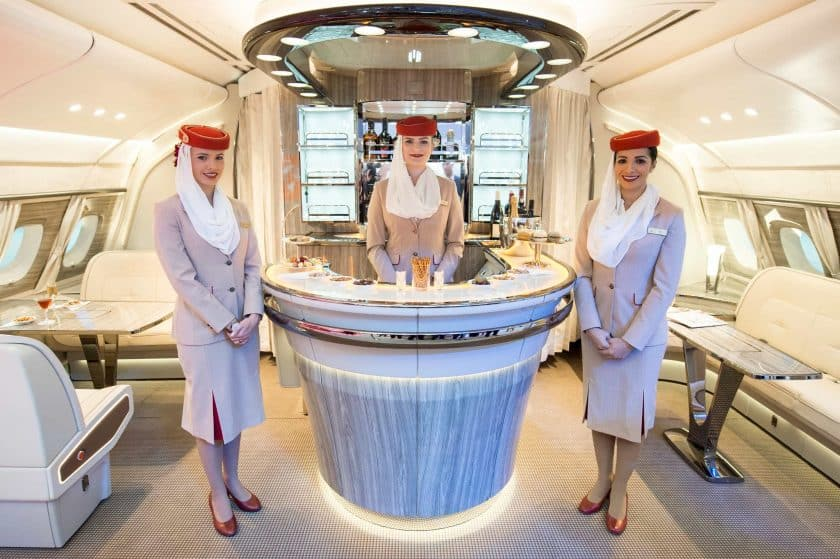 Emirates Airbus A380 Bar