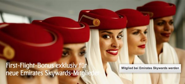 Emirates First Flight Bonus