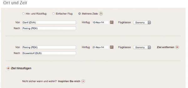 Gabelflüge bei Emirates buchen