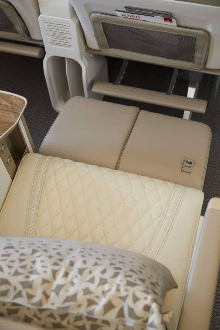 Emirates Premium Economy Sitz Fussstütze