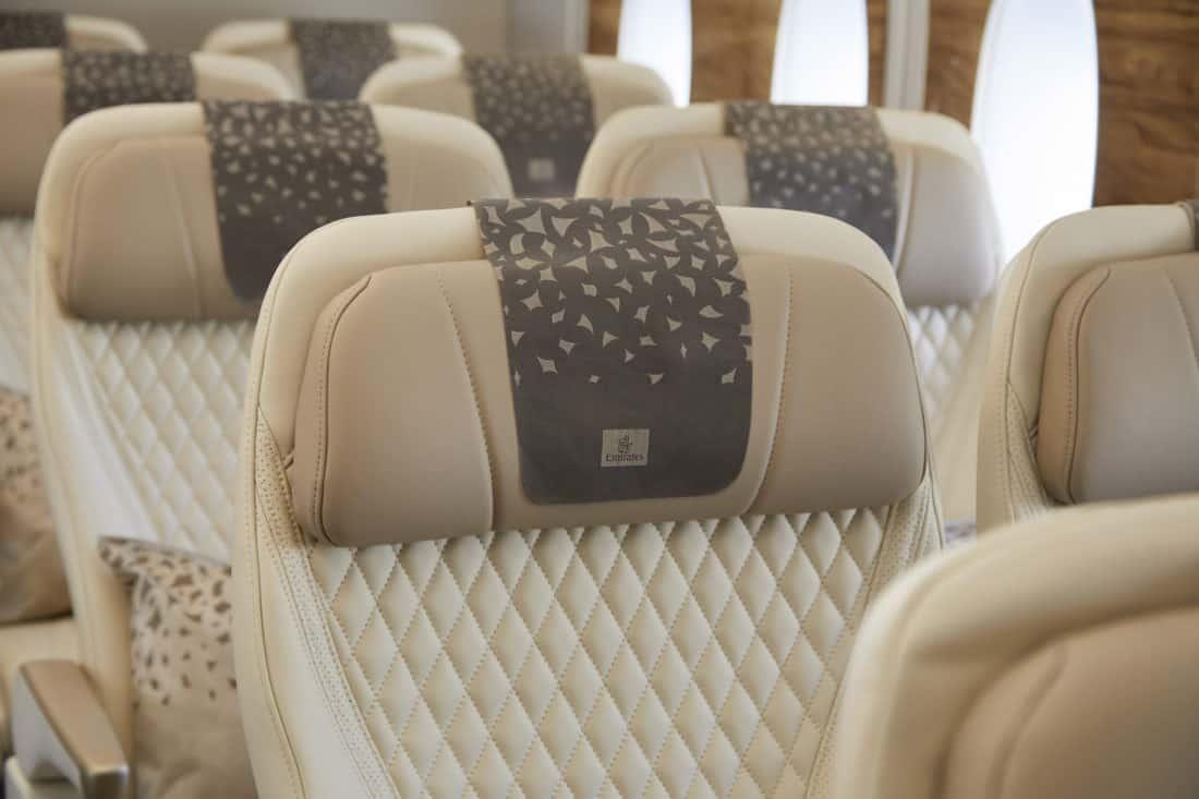 Emirates Premium Economy Sitz Kopfstütze