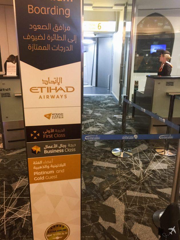 Etihad Airways Business Class Boarding