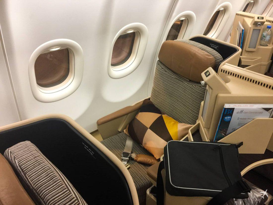 Etihad Airways Business Class Boeing 777 Sitz