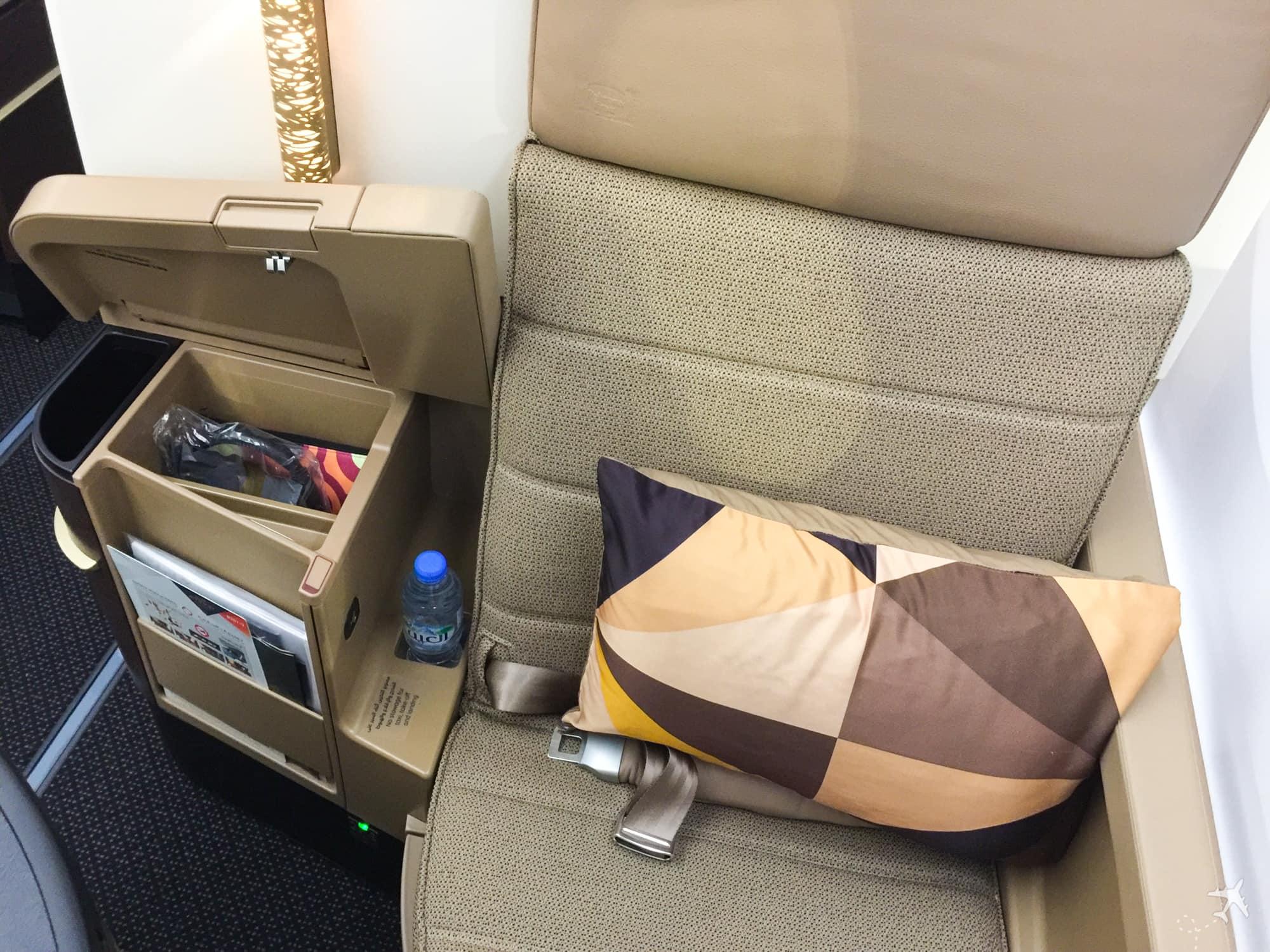 Etihad Airways Business Class Boeing 787 Sitz