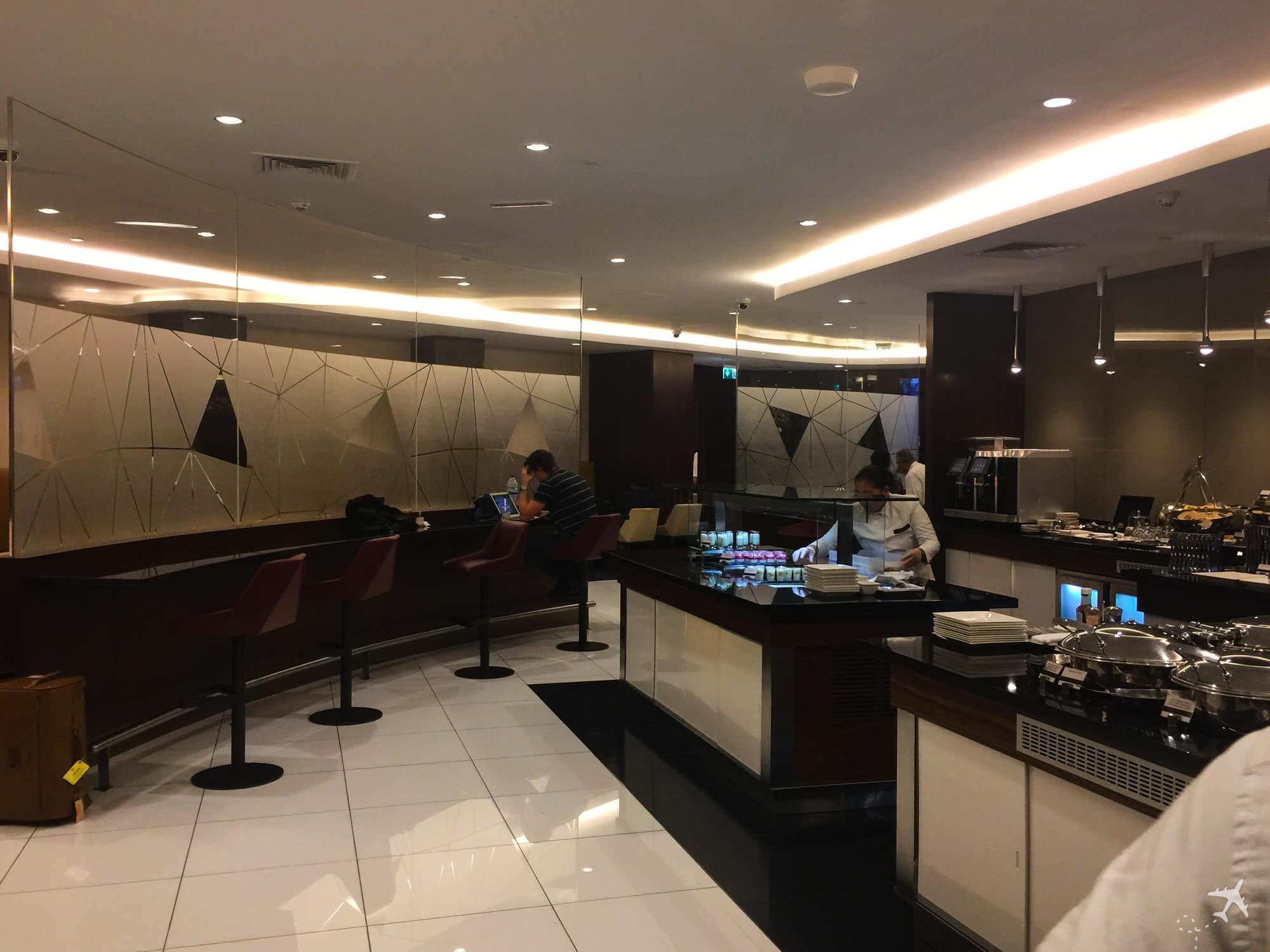Etihad Airways Lounge Abu Dhabi Buffet