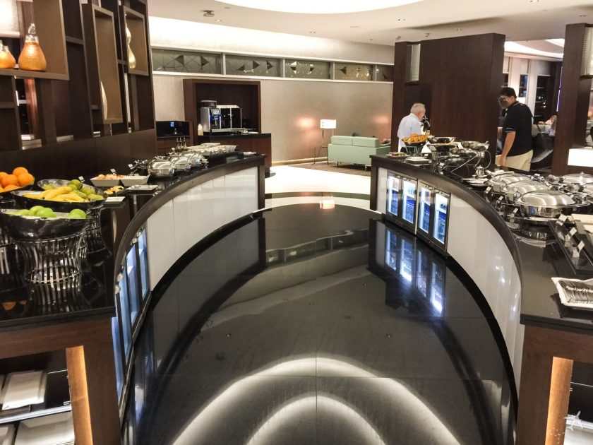 Etihad Premium Lounge Abu Dhani Terminal 3 Buffet