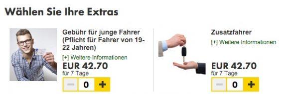 Europcar Extras