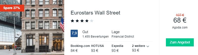 Eurostars Wall street 68