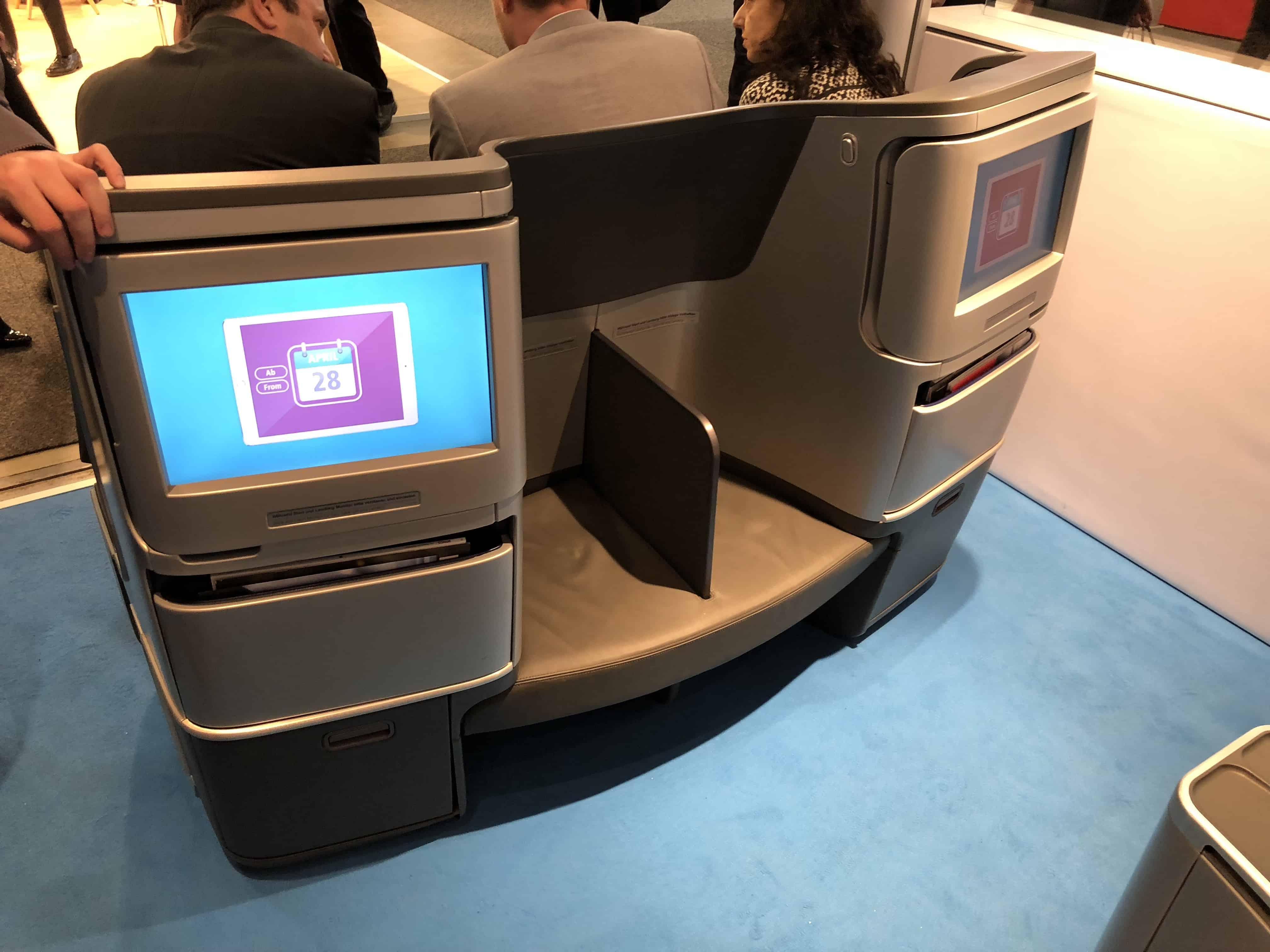 Eurowings BIZclass Bildschirme