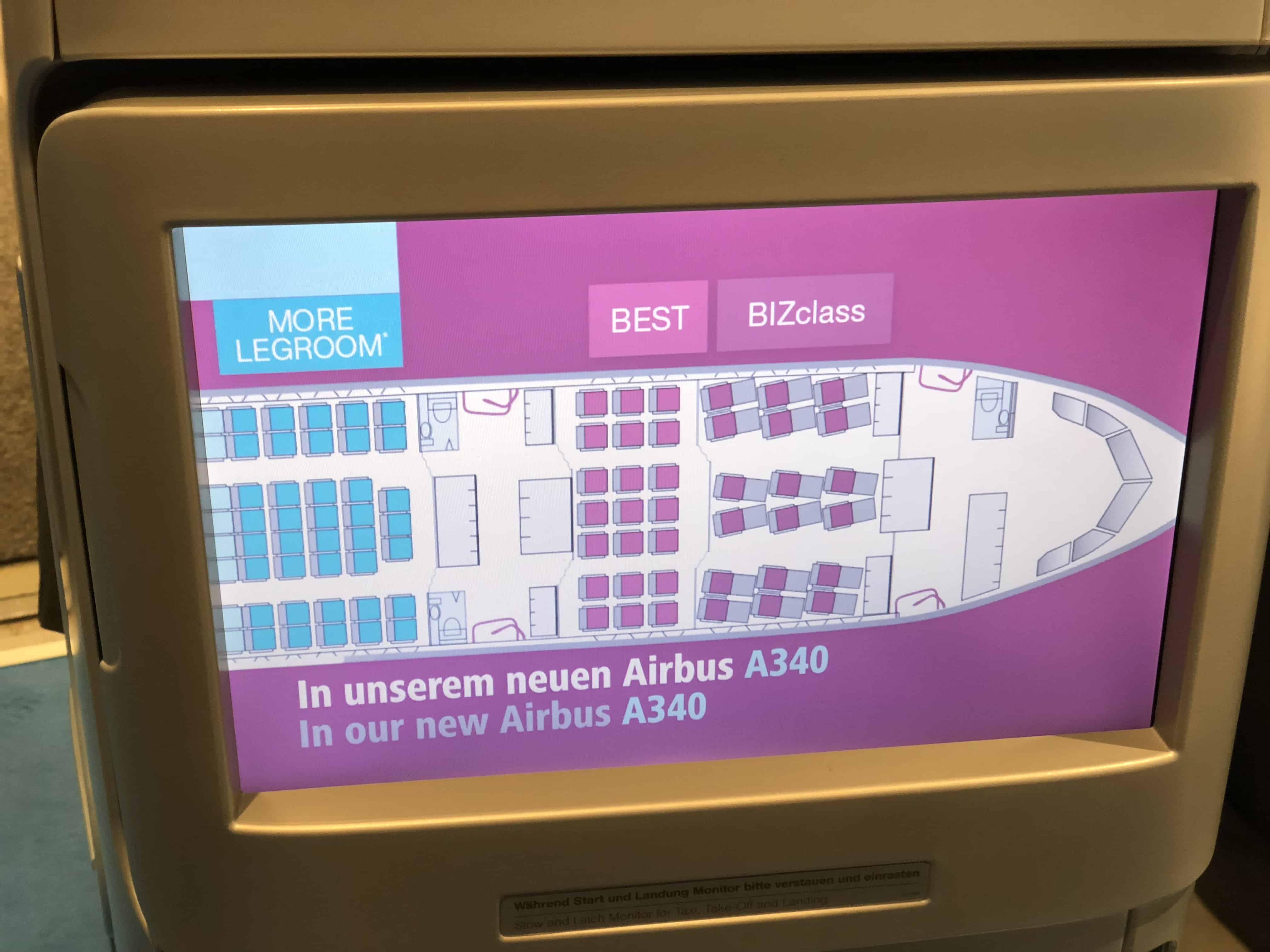 Eurowings BIZclass Sitzplan