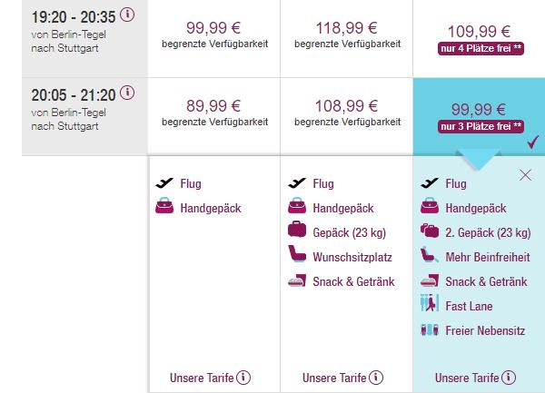 Eurowings Best Buchung