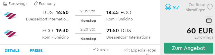 Eurowings DUS FCO