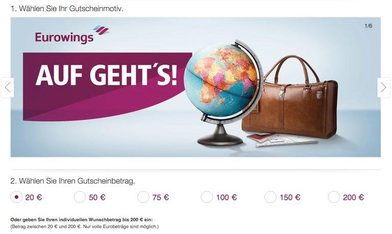 Eurowings Fluggutschein kaufen