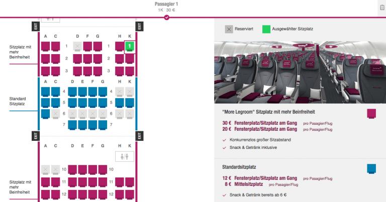Eurowings Sitzplatz BEST