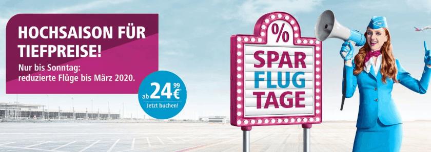 Eurowings Sparflugtage Sep19