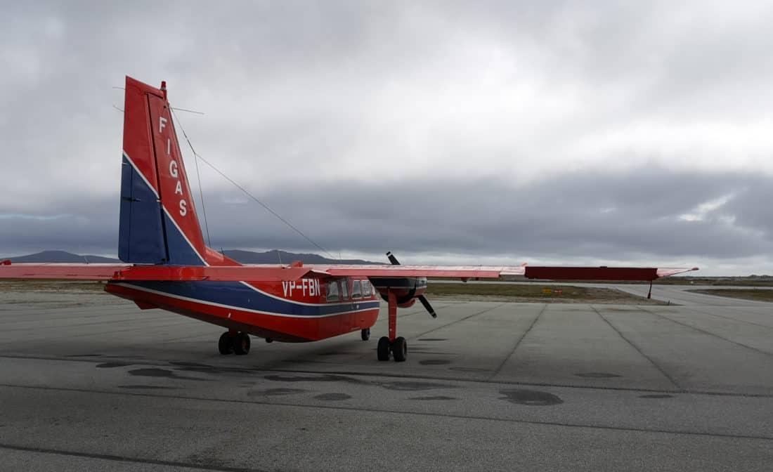 FIGAS Abflugbereit am Flughafen Stanley