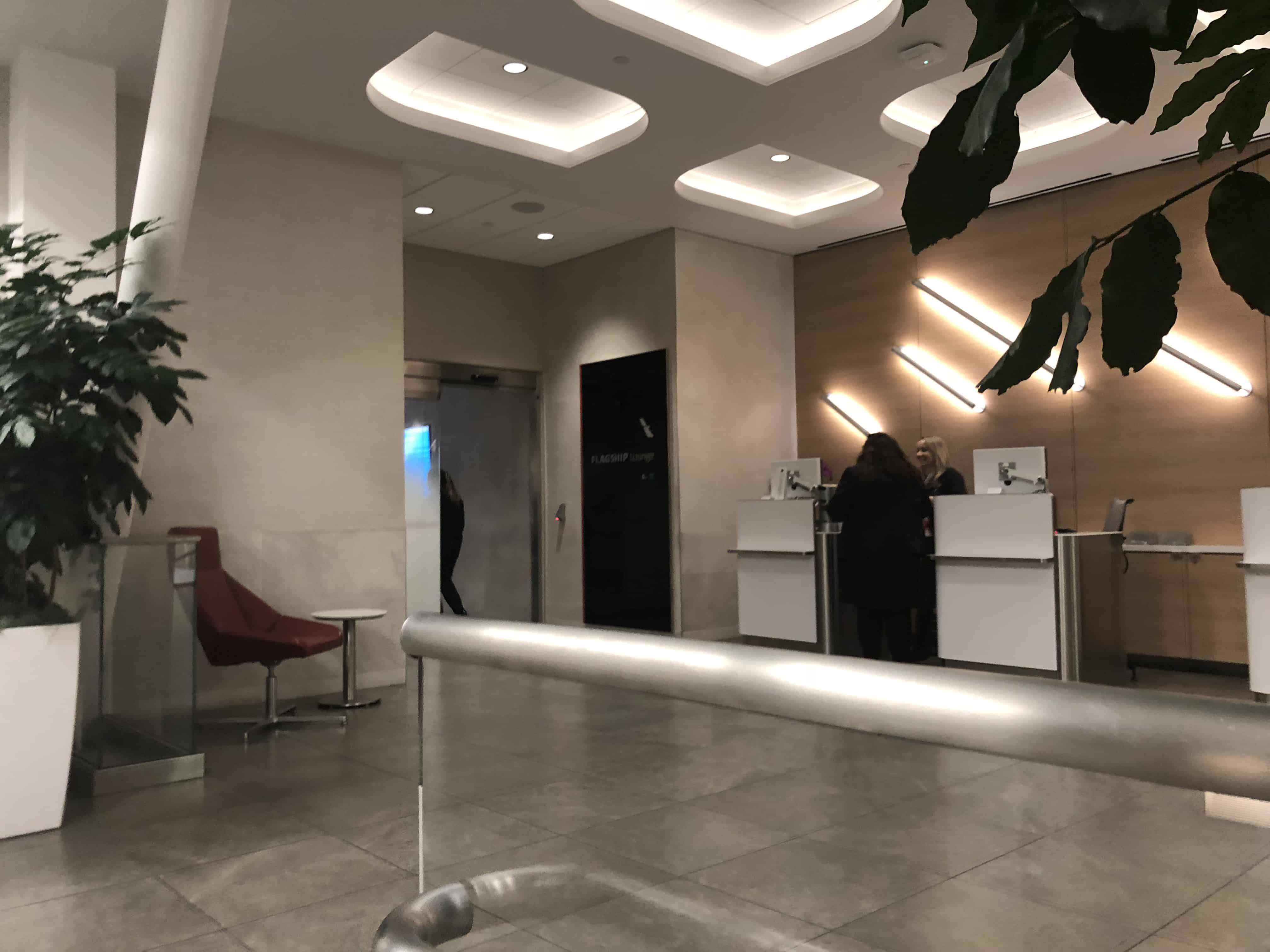 Flagship Lounge LAX Empfang
