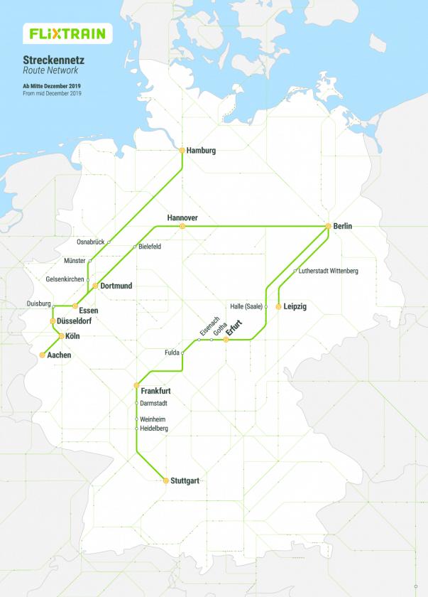 Flixtrain Netz 2020