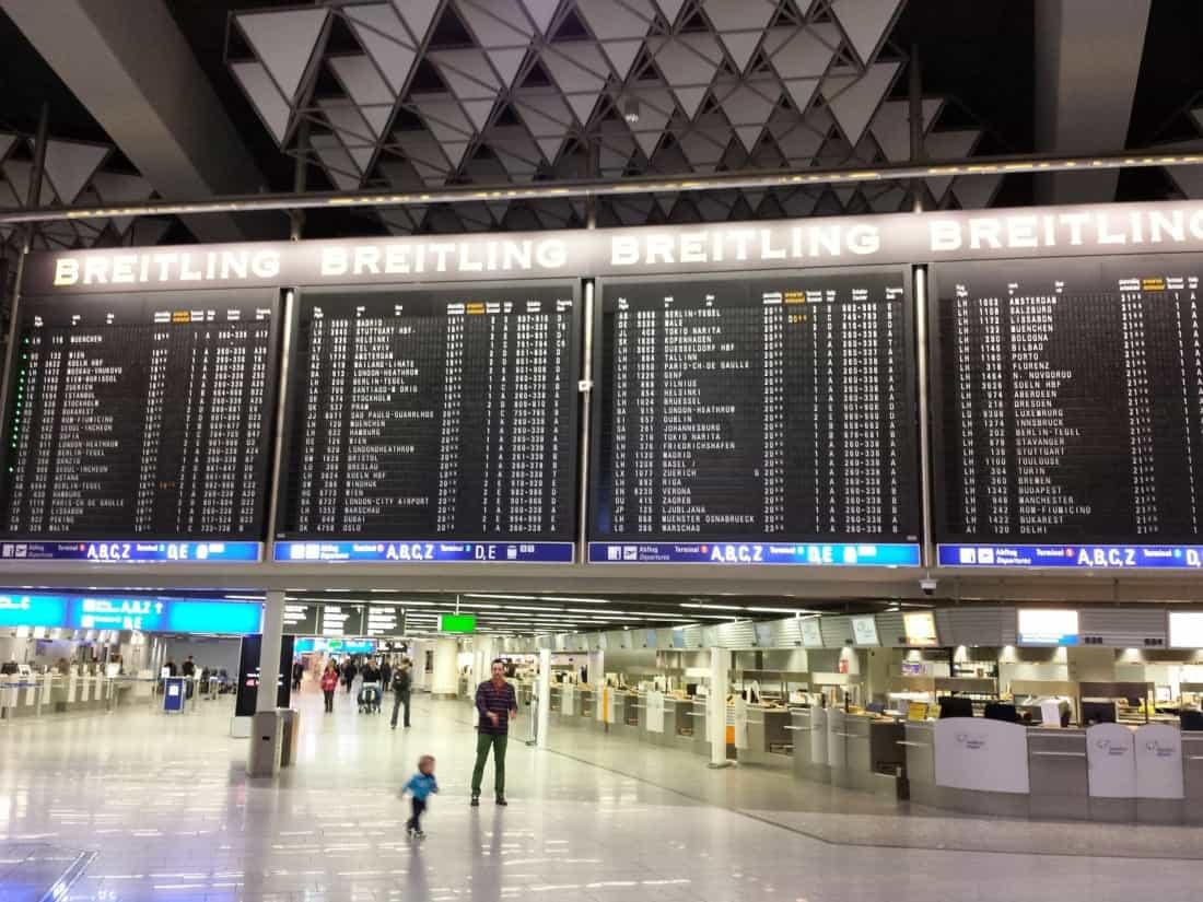 Flughafen Frankfurt FRA Abflugtafel