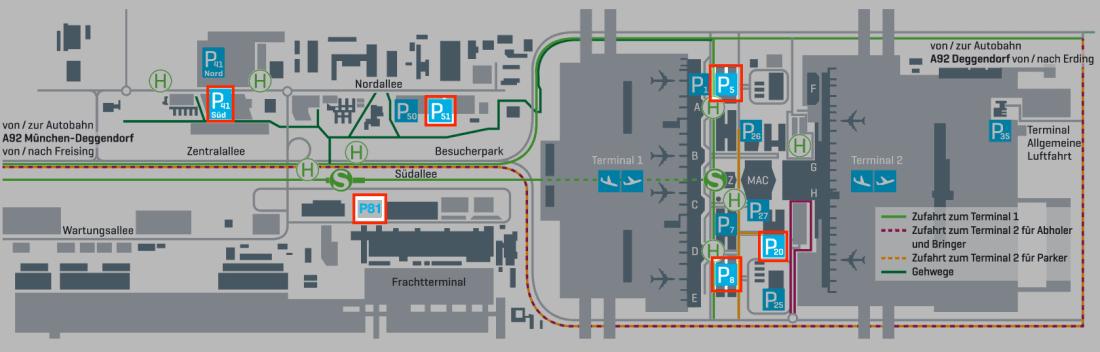 Flughafen Muenchen Parkhaeuser