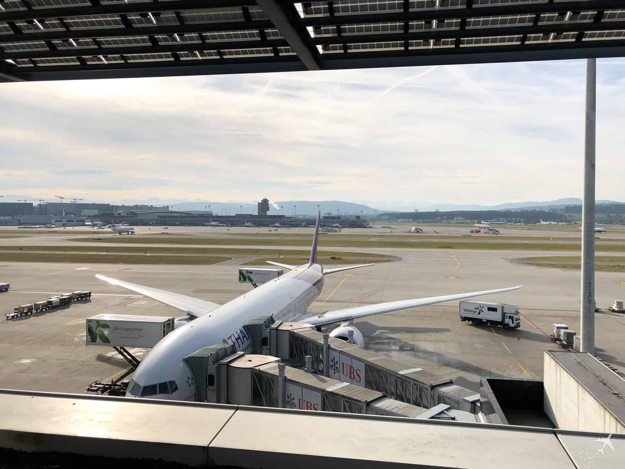 Flughafen Zürich Aussicht E Gates