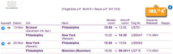 Von Brüssel nach New York und zurück nach München für 385€