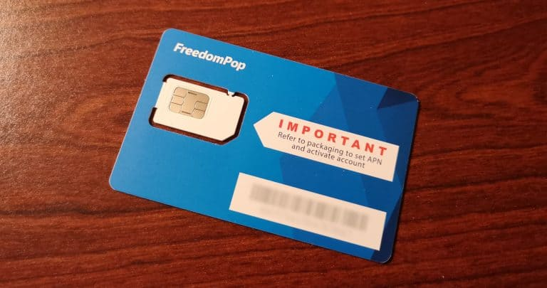 Freedompop SIM-Karte
