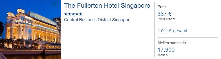 Fullerton SIN Miles More Hotels