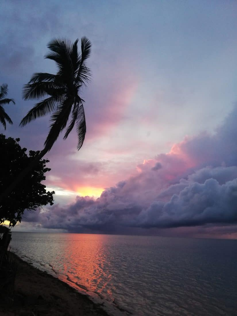 Gastbeitrag Fidschi Sonnenuntergang am Strand
