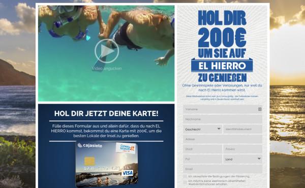 200€ Geschenkkarte für einen Besuch auf El Hierro
