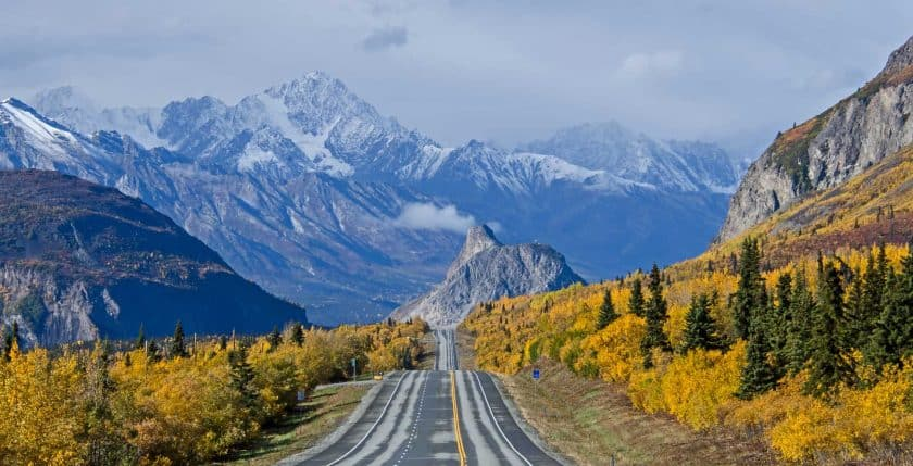 Glenn Highway in Alaska