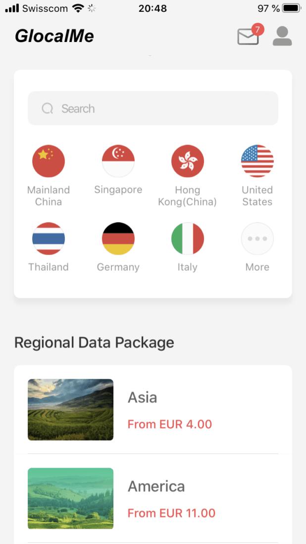 GlobalMe G3 Bewertung App 2