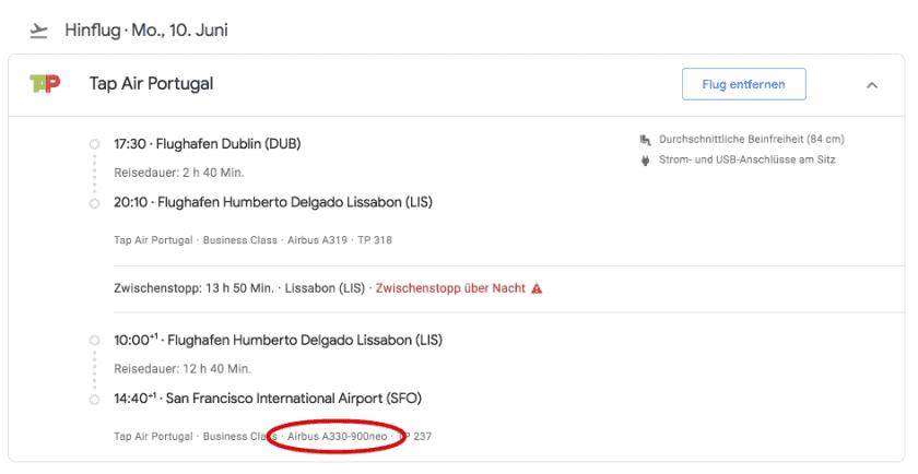 Google Flights DUB SFO
