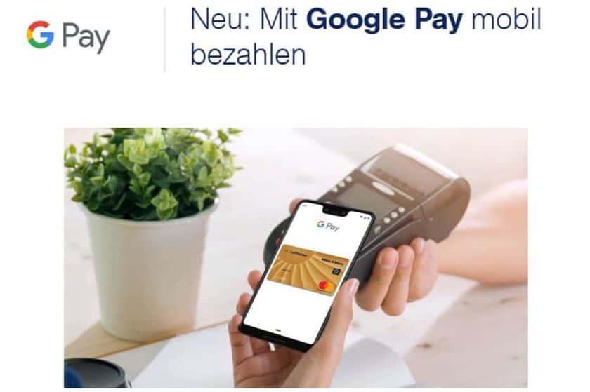 Google Pay Miles More Kreditkarte
