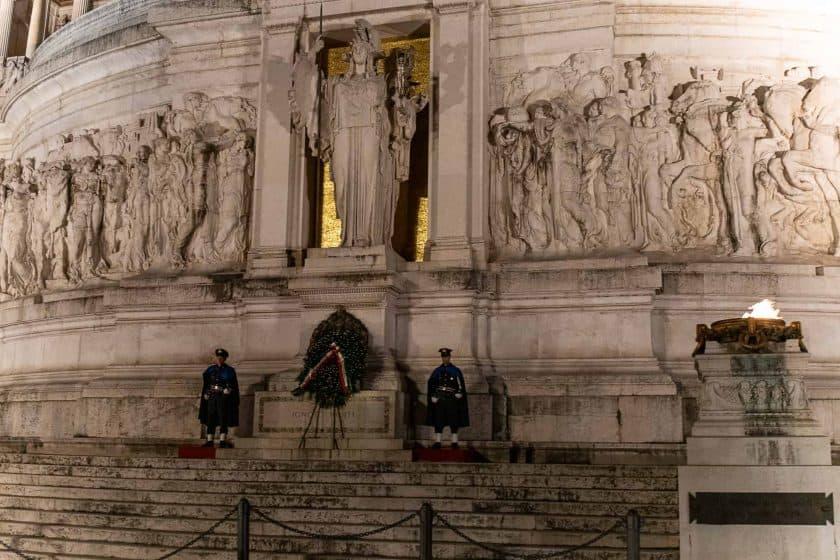 Grabmal des unbekannten Soldaten Viktor Emanuelsdenkmal Rom