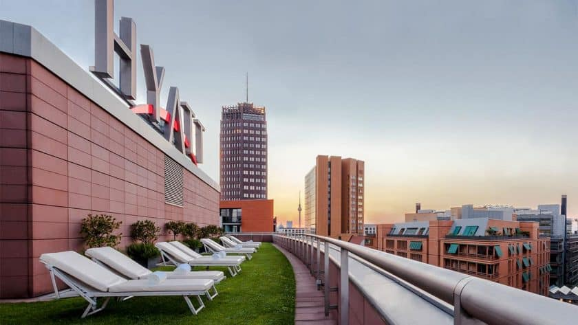 Grand Hyatt Berlin Spa Dachterrasse